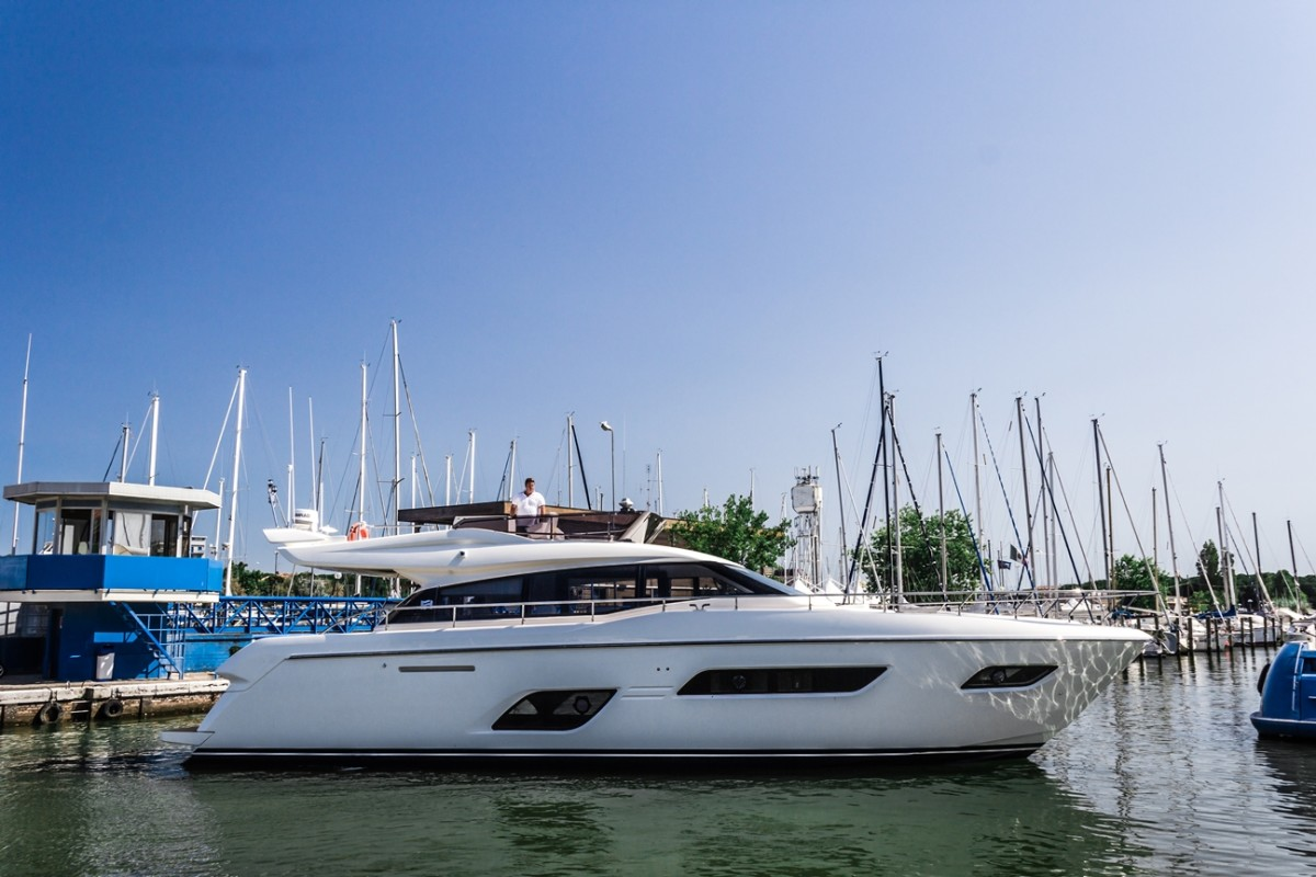 The Ferretti 550 will debut in the Cannes Yachting Festival in September.