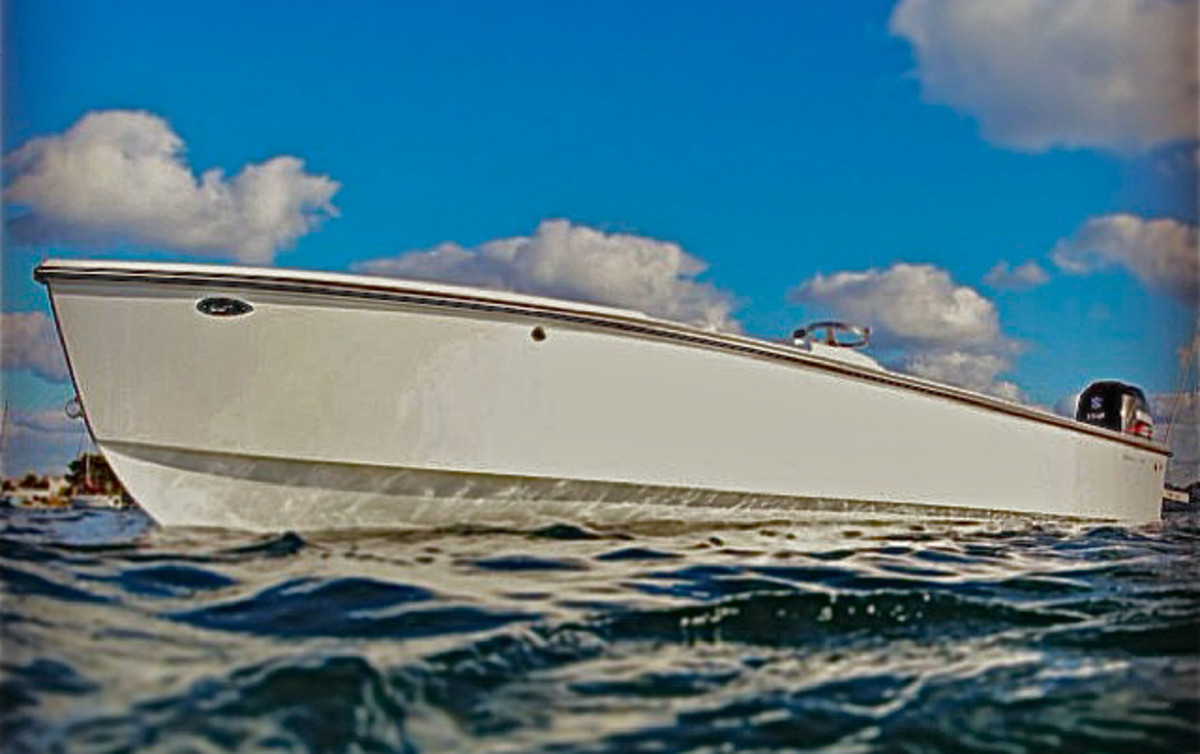 The Spanish Wells skiff was originally designed and built in the 1980s for Bahamian lobster fishermen.