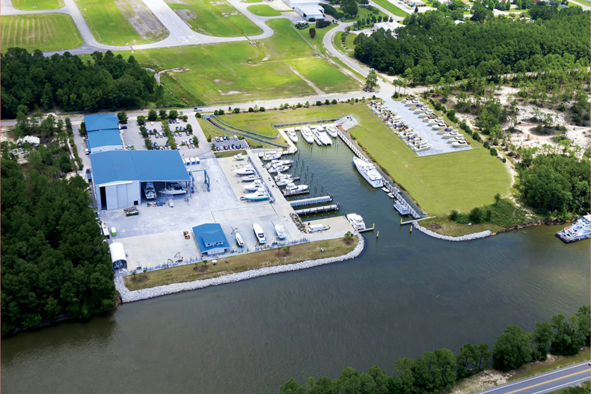 Saunders Yachtworks has a new 42,000-square-foot dry storage yard at its primary location in Gulf Shores, Ala.