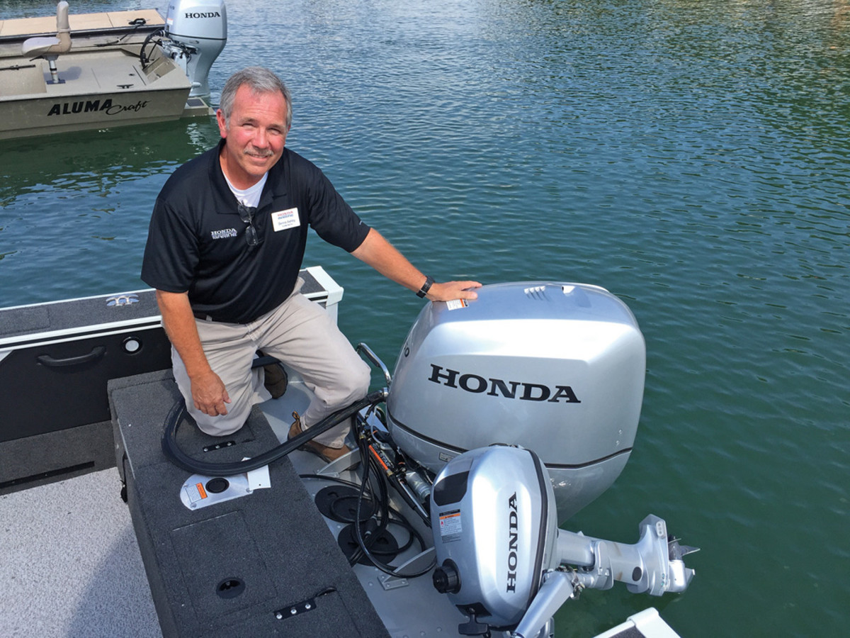 Honda senior OEM sales manager Dennis Ashley was at the media event to outline the benefits of all Honda engines from 4 to 250 hp.