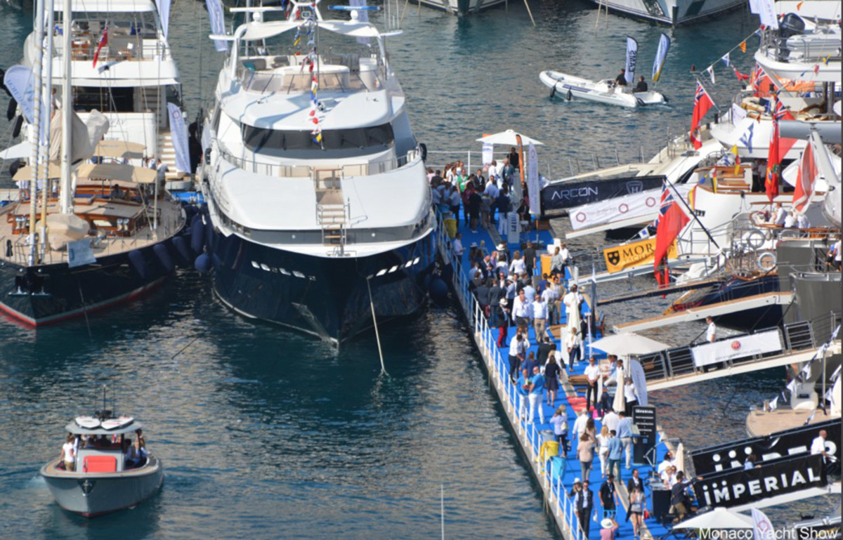 The Monaco Yacht Show runs Wednesday through Friday in Nice, France.
