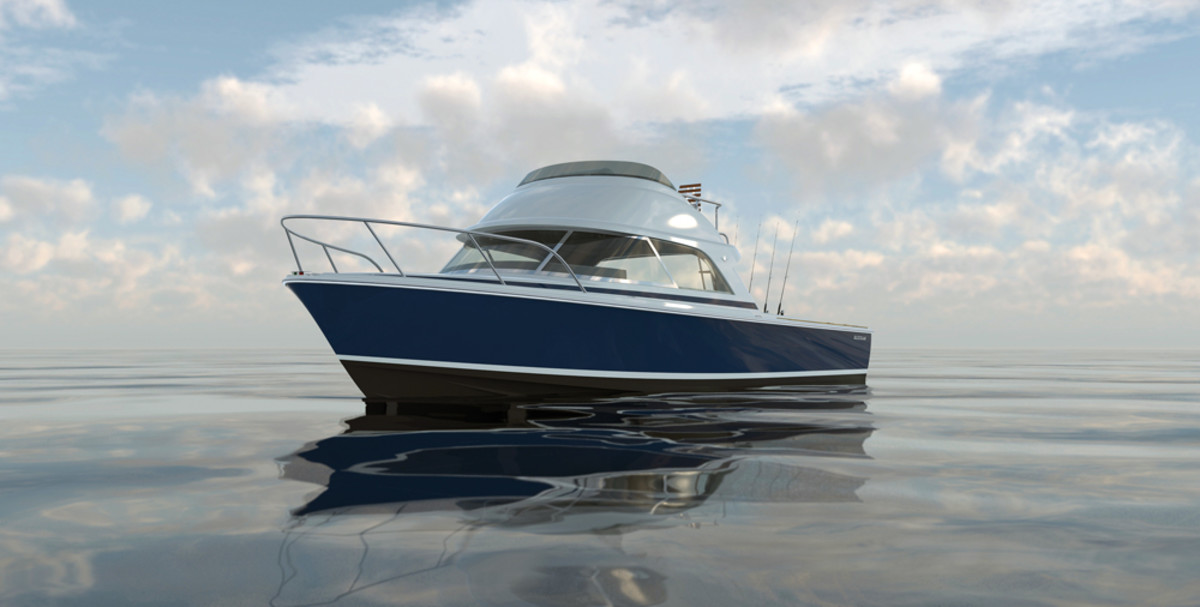 The first Bertram 35 will make the rounds at the fall and winter boat shows.