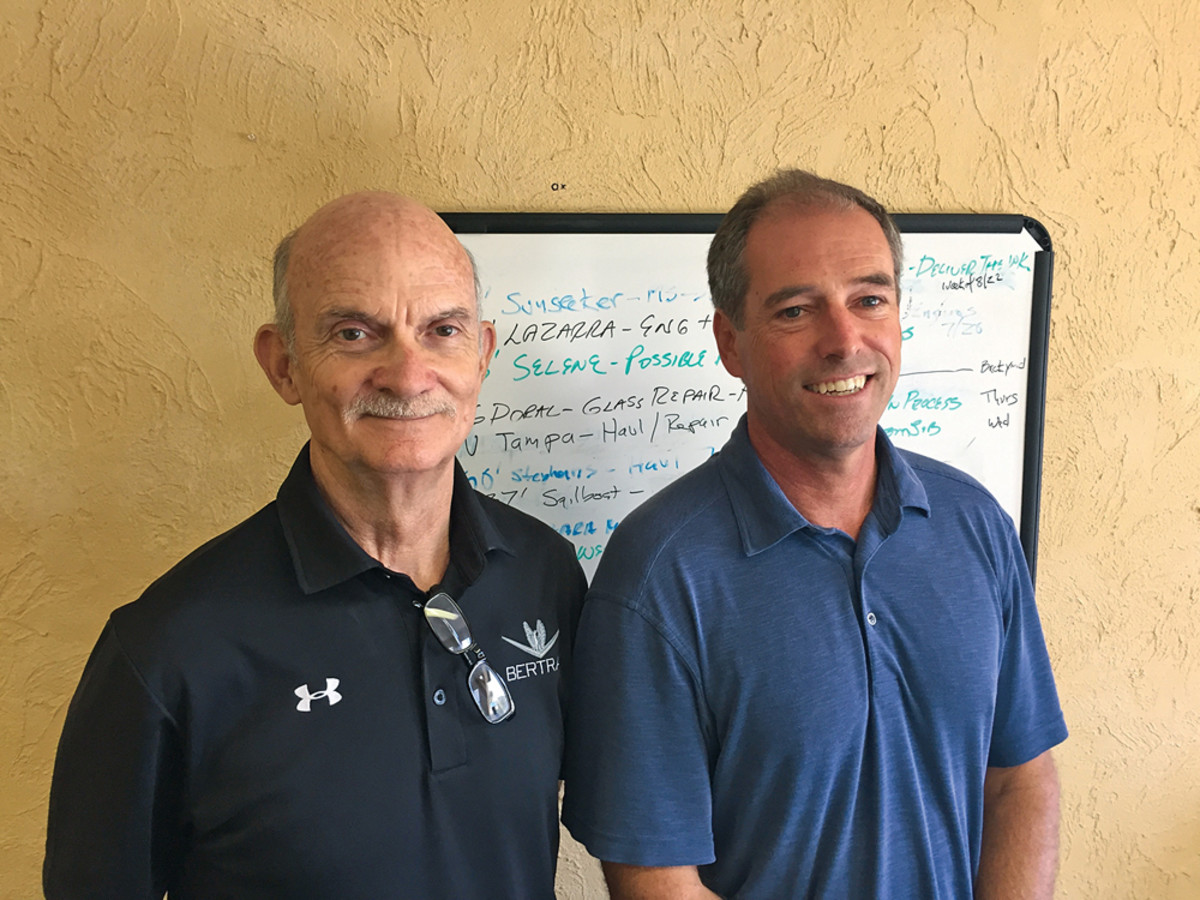 Vice president of production Earl Blackwell (left) and Truslow have tapped the area's quality marine work force and vendors.