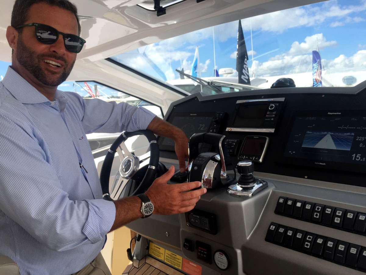 Azimut-Benetti USA president Federico Ferrante says technology such as Mercury Marine's Skyhook, Joystick Piloting and Auto-Trim have contributed to the success of the growing 35- to 45-foot outboard segment.