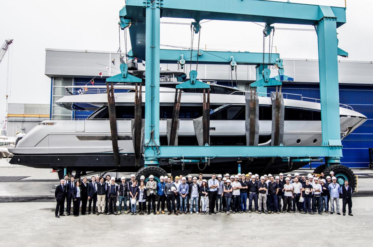 Riva Yacht said the 100-foot Corsaro will make its international debut in Hong Kong early next year.