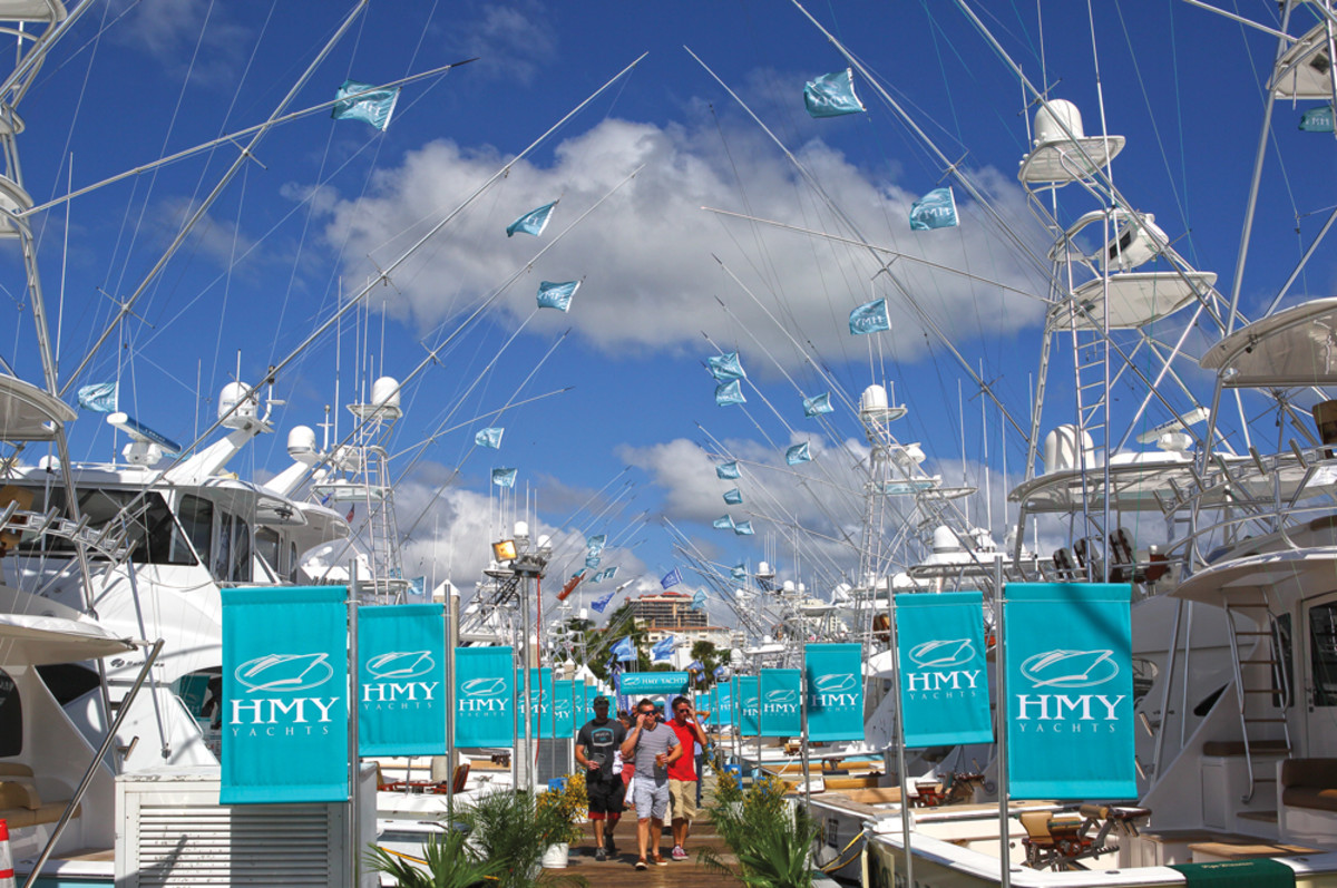 HMY Yacht Sales, which has a dozen sales offices in the Southeast, is always a major exhibitor.