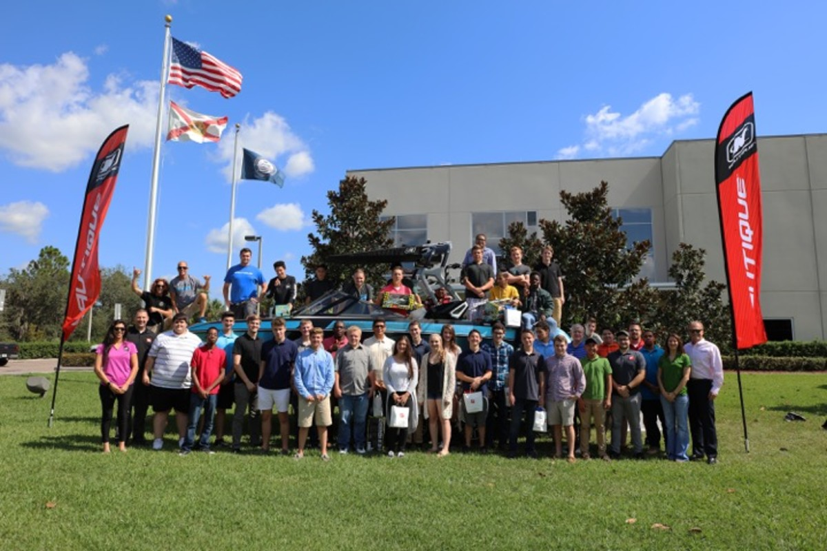 Nautique welcomed students from Lake Mary (Fla.) High School to its world headquarters and manufacturing facility in Orlando, Fla.