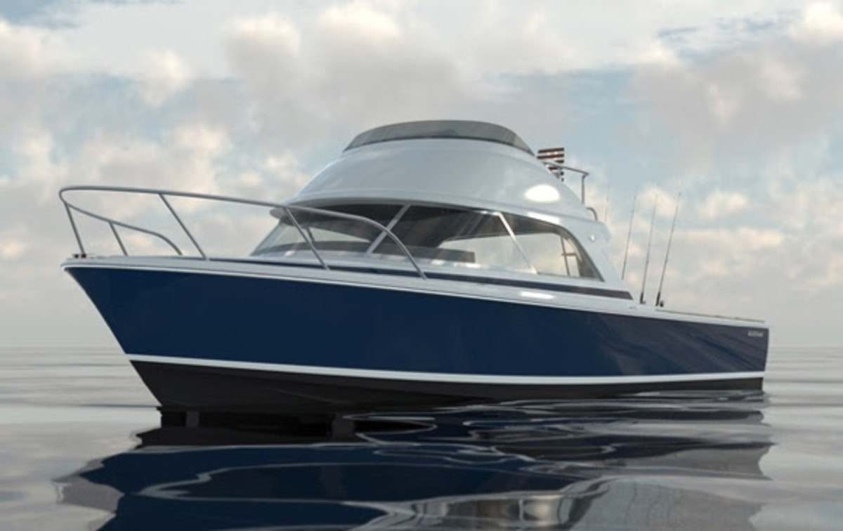 The new Bertram 35, Moppie, has a video surveillance system and a tracking system from Global Ocean Security Technologies.