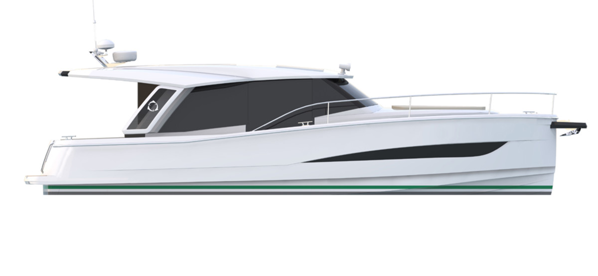 The Greenline 36 Hybrid is the company's first build.