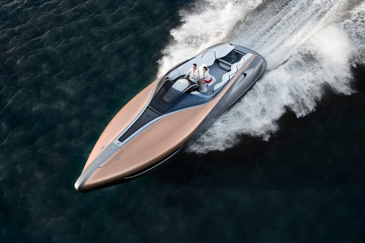 "The Lexus Sport Yacht concept is a 42-foot open sport yacht. It made its global debut today at a Lexus-hosted ""Through the Lens"" global media event in Miami."