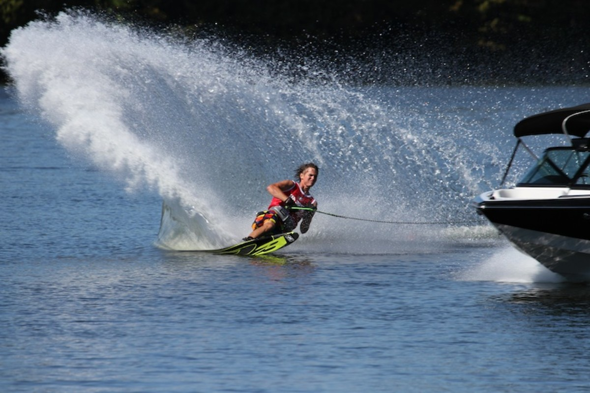 A finalist skis in Nautique's U.S. Open of Water Skiing.