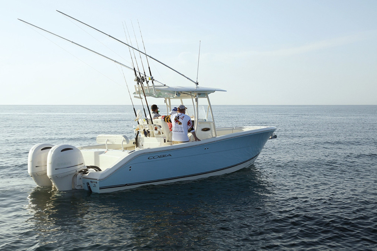 Maverick's fleet included its newest model, the Cobia 277 CC; if you're sea trialing a fishing boat, you might as well catch some fish.