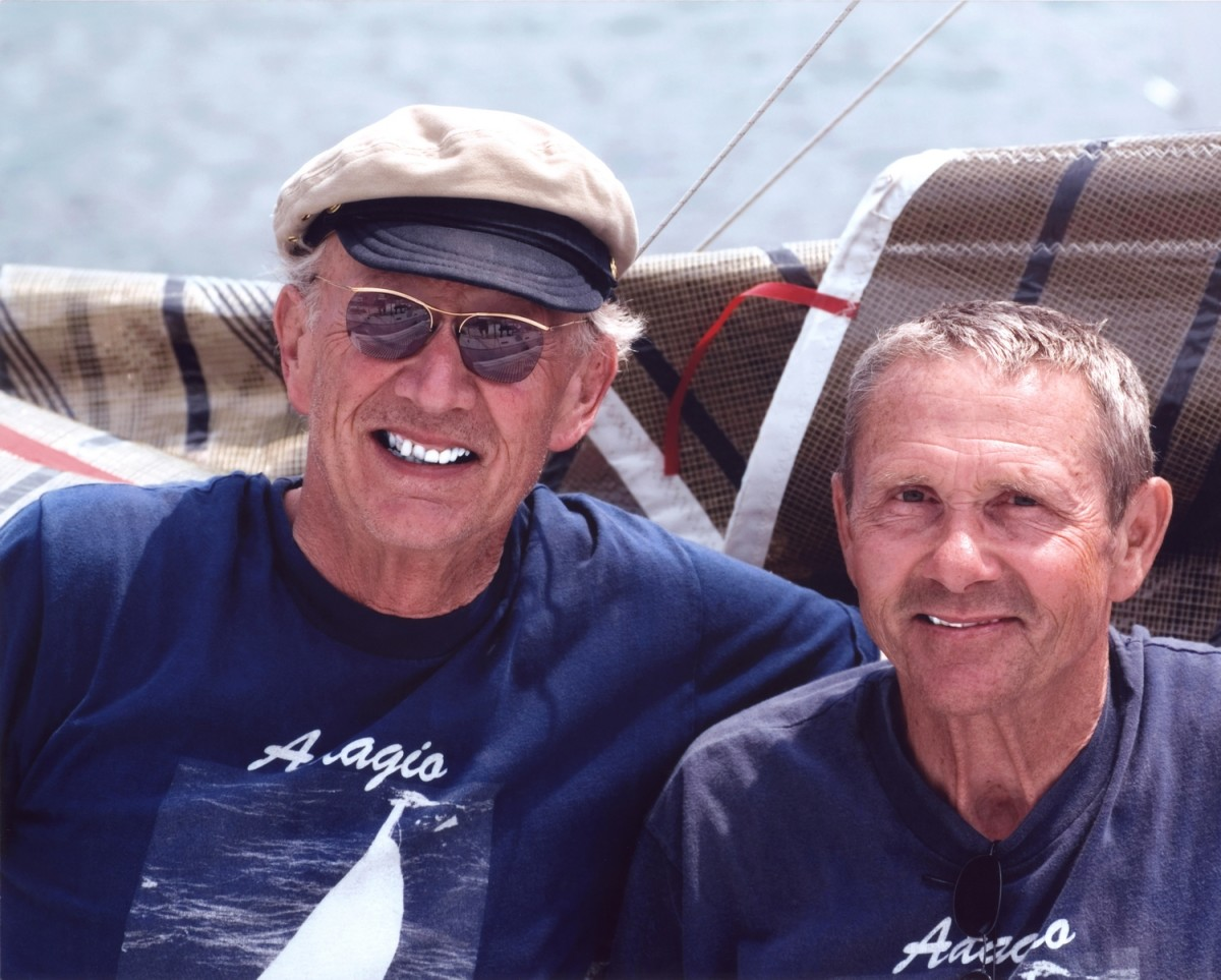 Meade (left) and the late Jan Gougeon, two founders of Gougeon Brothers Inc., are among six people who will be inducted into the National Sailing Hall of Fame in October.