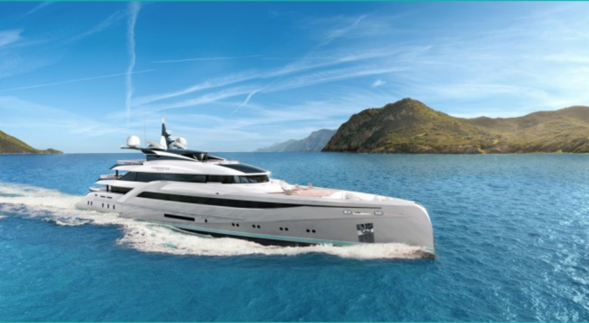 The Nuvolari Lenard design makes the new yacht appear to be all of one piece.