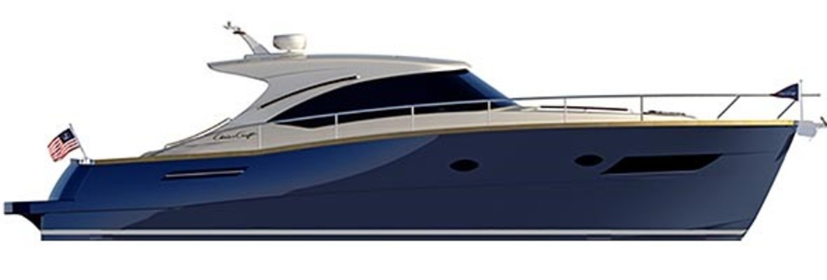 Chris-Craft worked with the Italian builder Austin Parker as its design and manufacturing partner on the Commander 42.