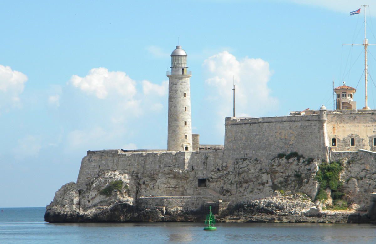 El Morro, Havana's iconic fortress, guards the entrance to Havana Harbor.