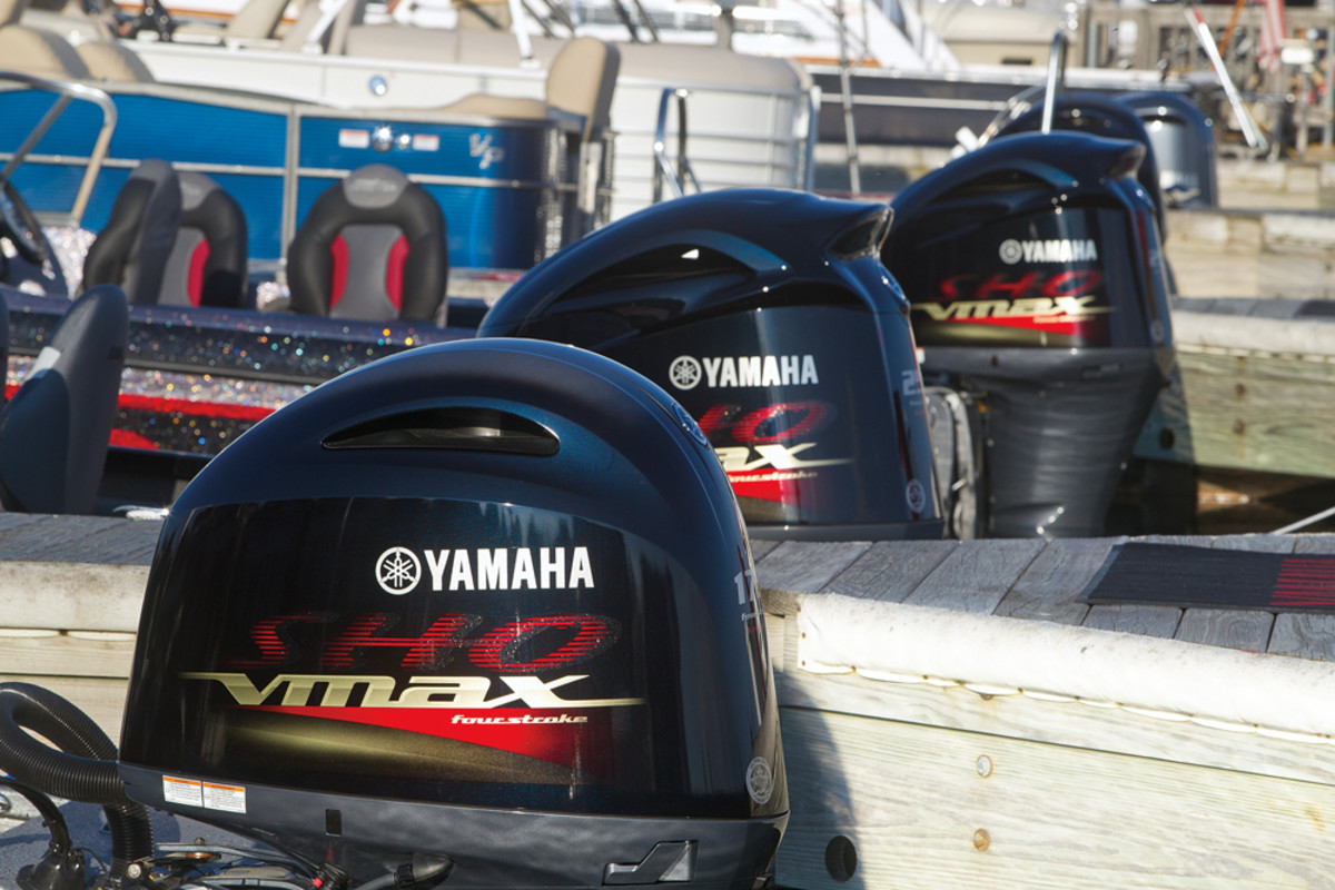 Yamaha's VMAX SHO 4-strokes maximize top-end speeds, a big selling point for freshwater applications.