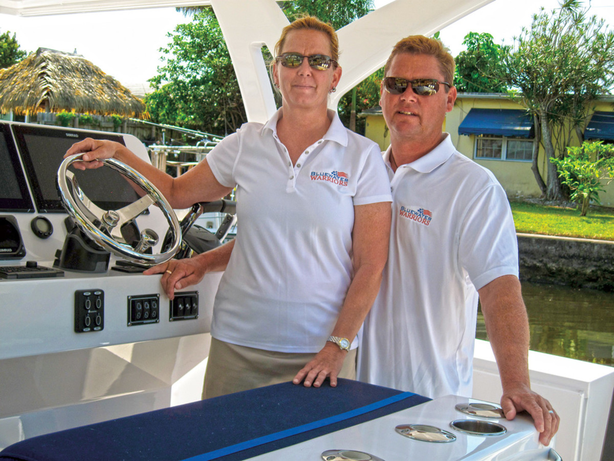 Karen and Andrew Grego run Blue Water Warriors, a charity staffed by volunteers that takes wounded veterans out on the water.