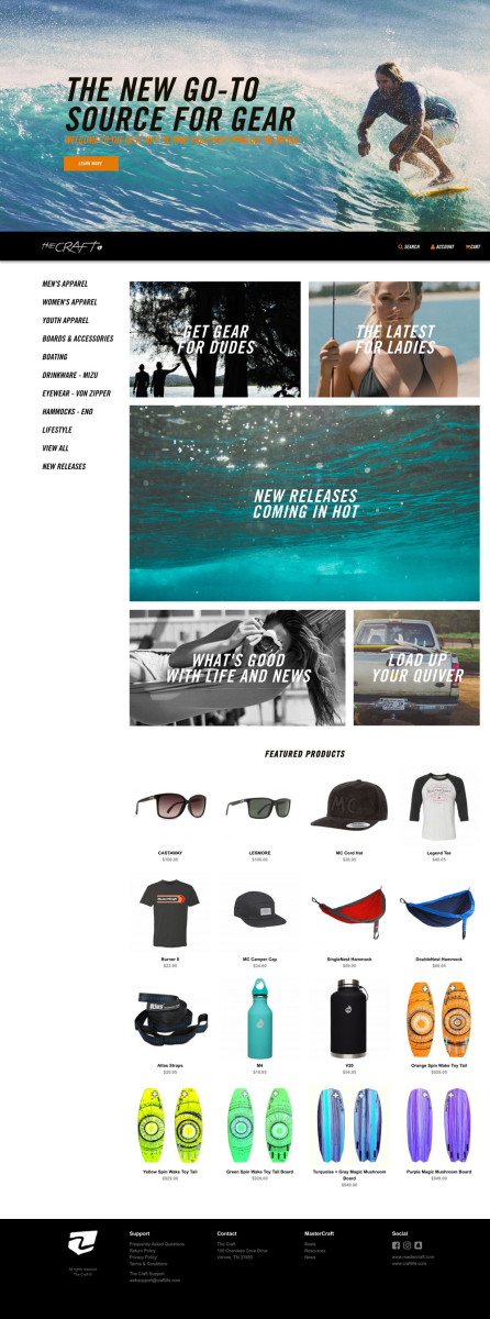 The Craft is an extension of MasterCraft's lifestyle brand marketing.