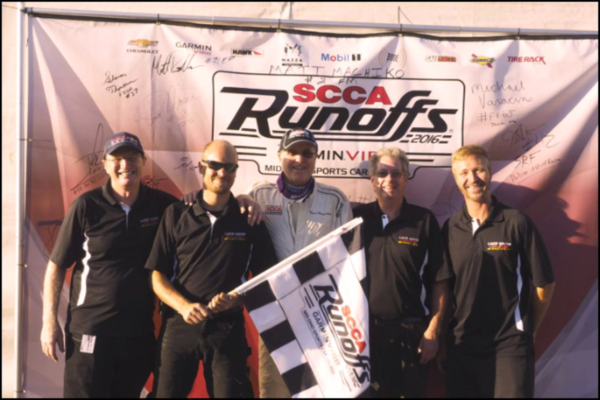 The Lake Union Sea Ray Racing Team, sponsored by Norman-Spencer Agency, won the 2016 SCCA National Championship Runoffs at the Mid-Ohio Sports Car Course.