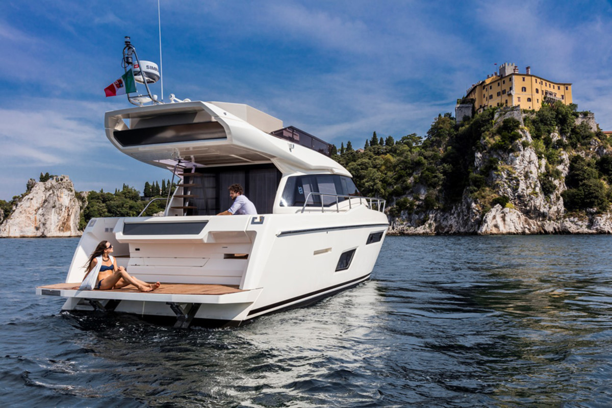 The Ferretti Yachts 450 will be at Salon Nautique de Paris, which opens this weekend.