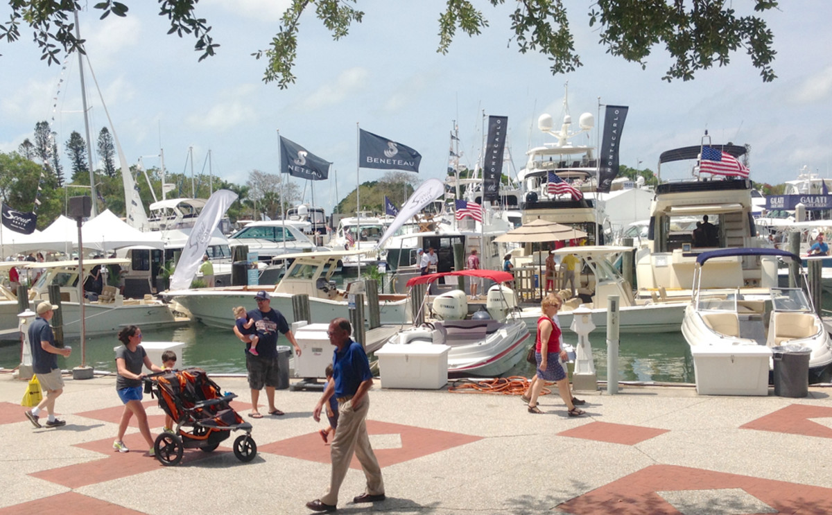 The Suncoast Boat Show in Sarasota, Fla., which wrapped up on Sunday after four days of sunny skies, is known for having quality buyers.