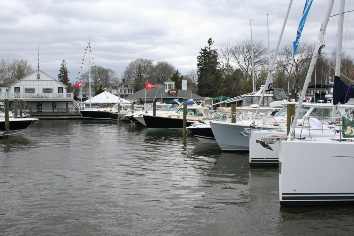 Local brokers at the Essex (Conn.) Spring Boat Show were upbeat about their 2015 prospects.