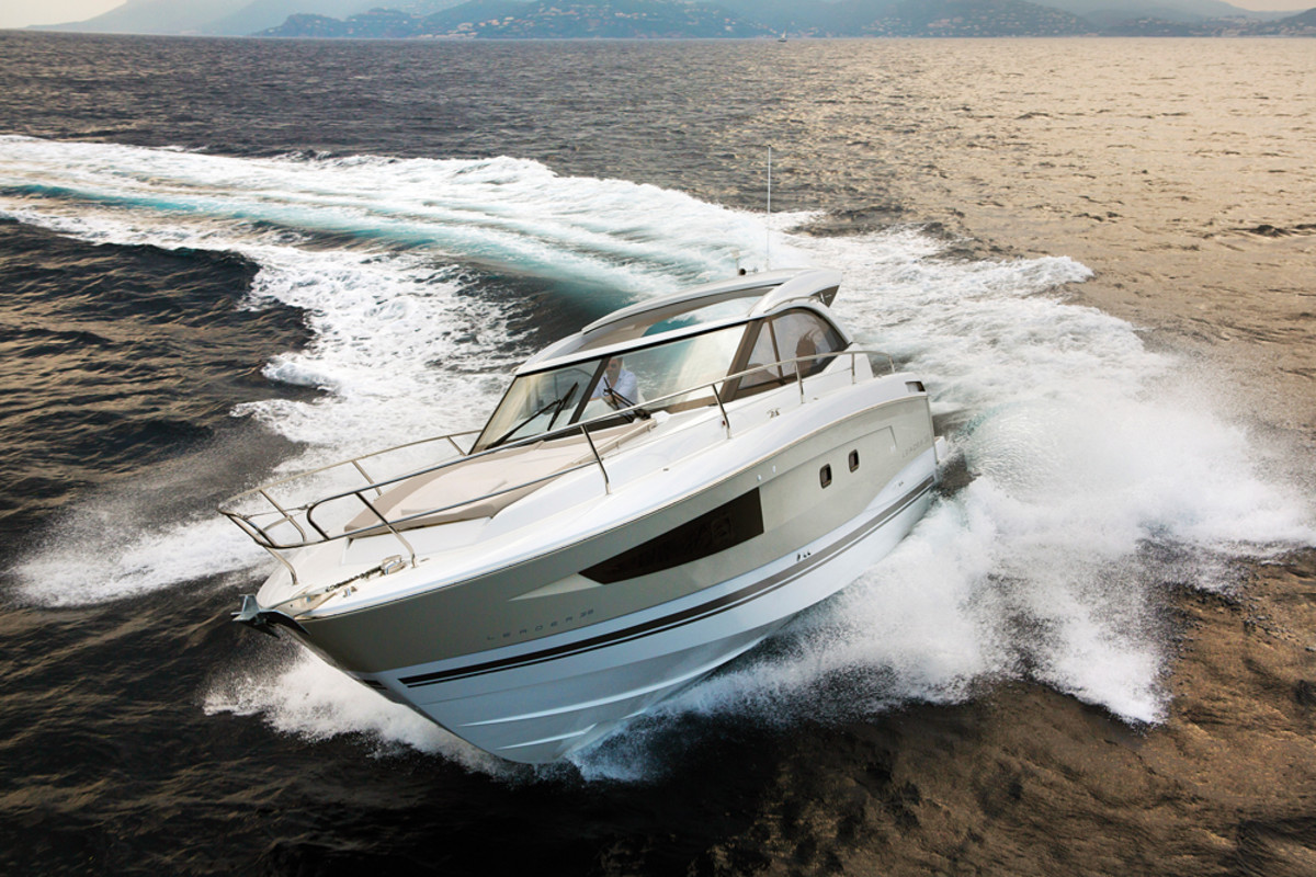 """Resolutely timeless and easy to handle,"" the Leader 36 is particularly well suited for short cruises with family or friends, Harvey says."