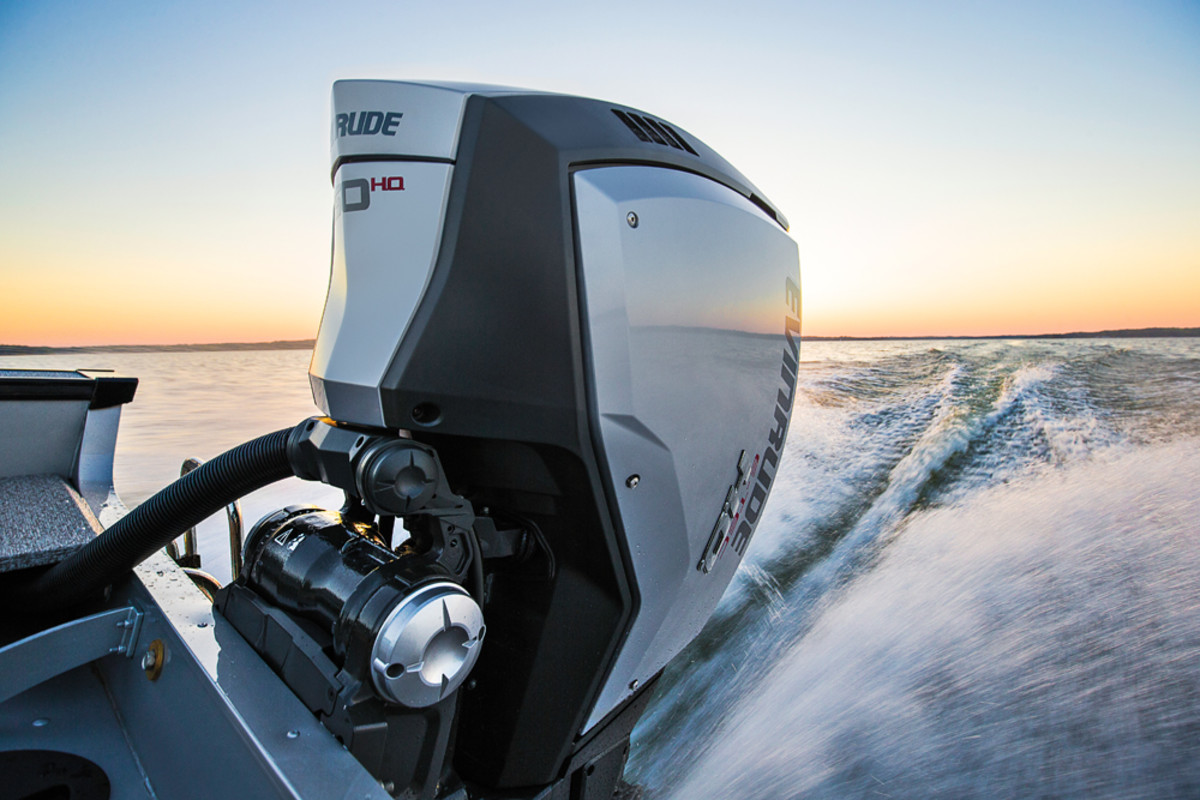 Evinrude's E-TEC G2 stands out for its acceleration and torque, but the engine's fuel economy and low emissions are equally strong, BRP says.