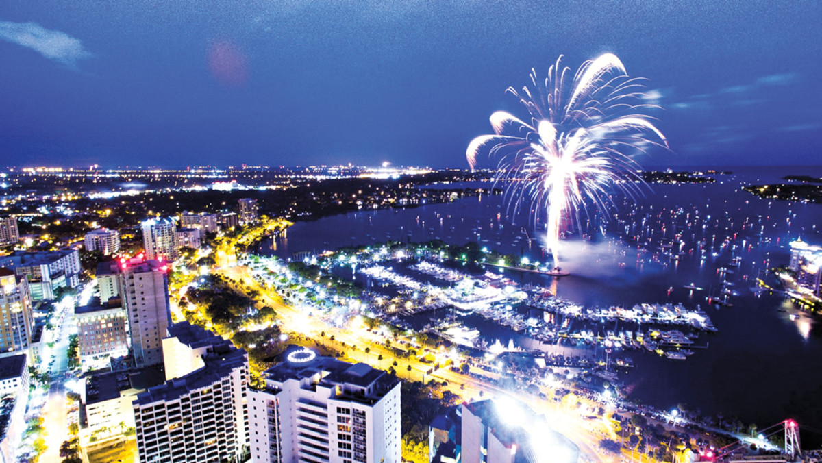 Marina Jack in Sarasota, Fla., hosts the city's annual Fourth of July fireworks display — just one of the community activities it supports.