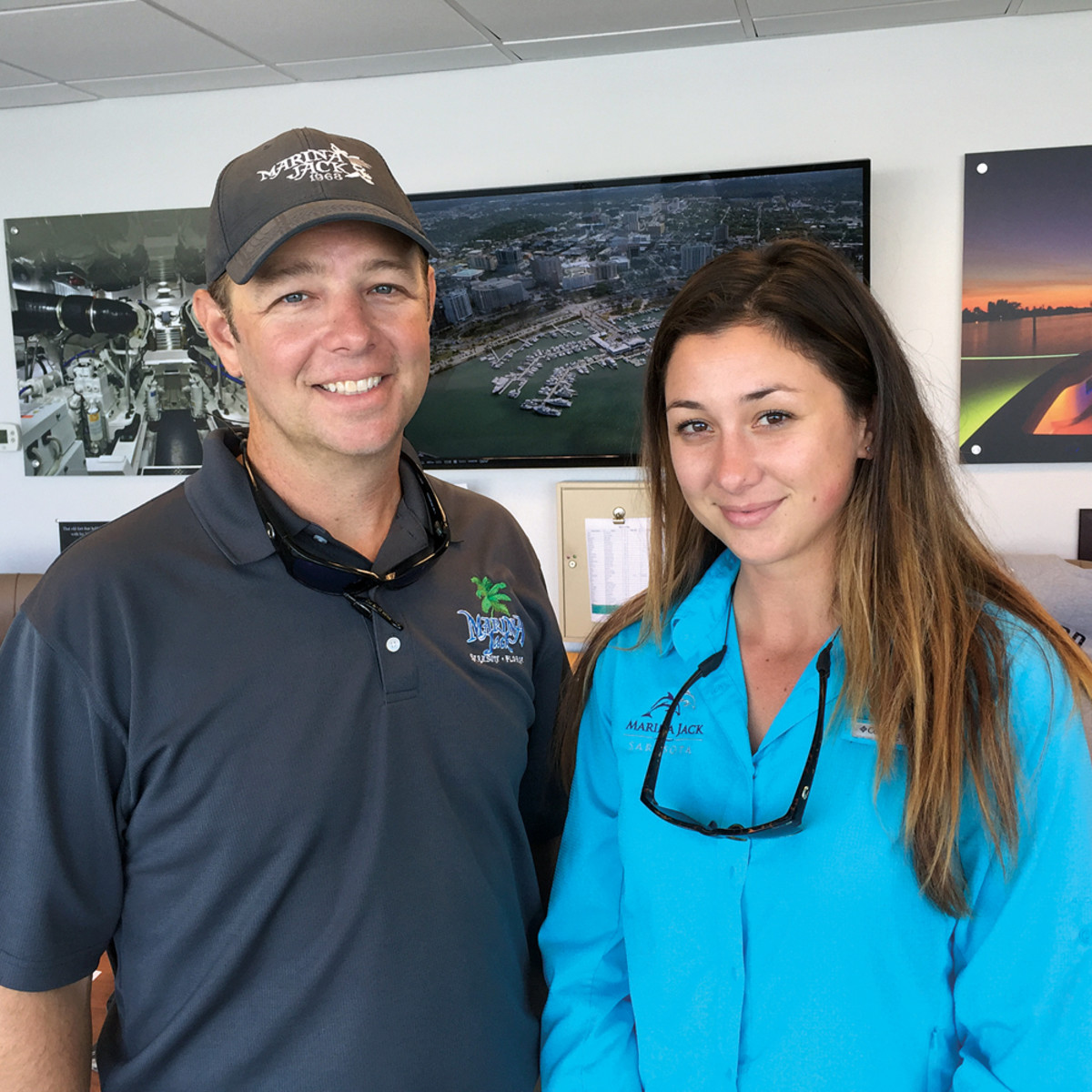 Sam Chavers Jr. is director of marina operations and dockmaster at Marina Jack and Kathryn Wilson is public communications manager and yacht services administrator.