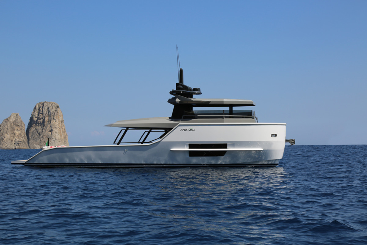 Arcadia Yachts will debut its entry-level Sherpa at the Cannes Yachting Festival.