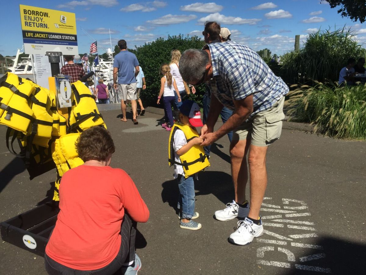 The initiative is part of the Sea Tow Foundation's national Life Jacket Loaner program, which has more than 340 life jacket stands.