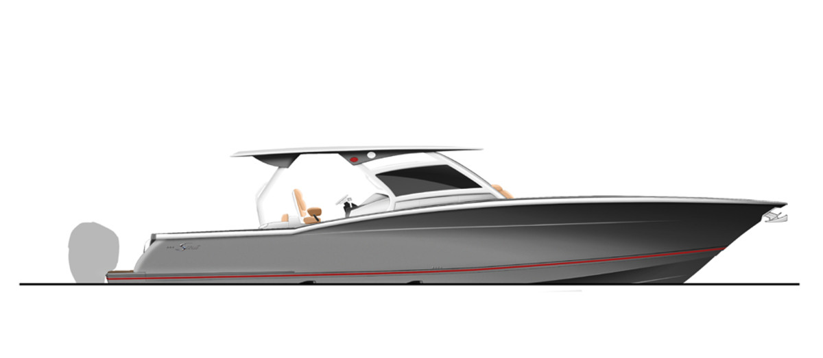 Scout said the 380 LXF is built on its epoxy-infused, double-stepped fuel-efficient hull.