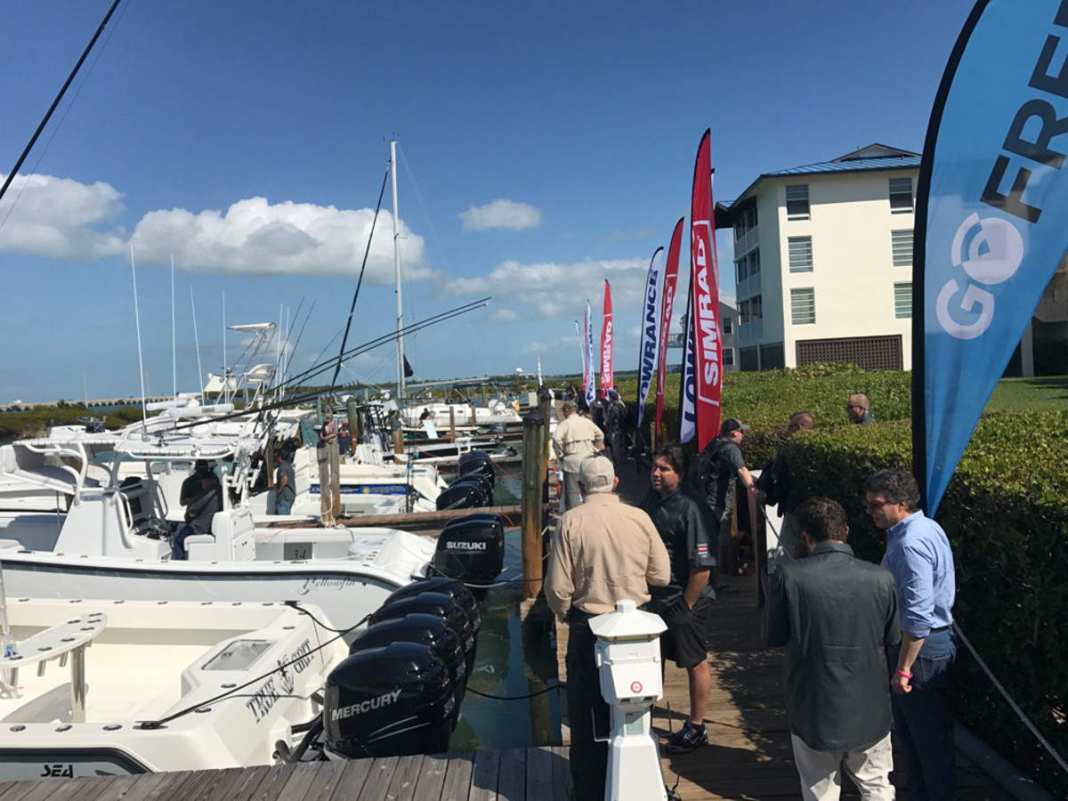 Navico took journalists on a fleet of boats to show them new products, many of which will be officially introduced at the Miami International Boat Show.