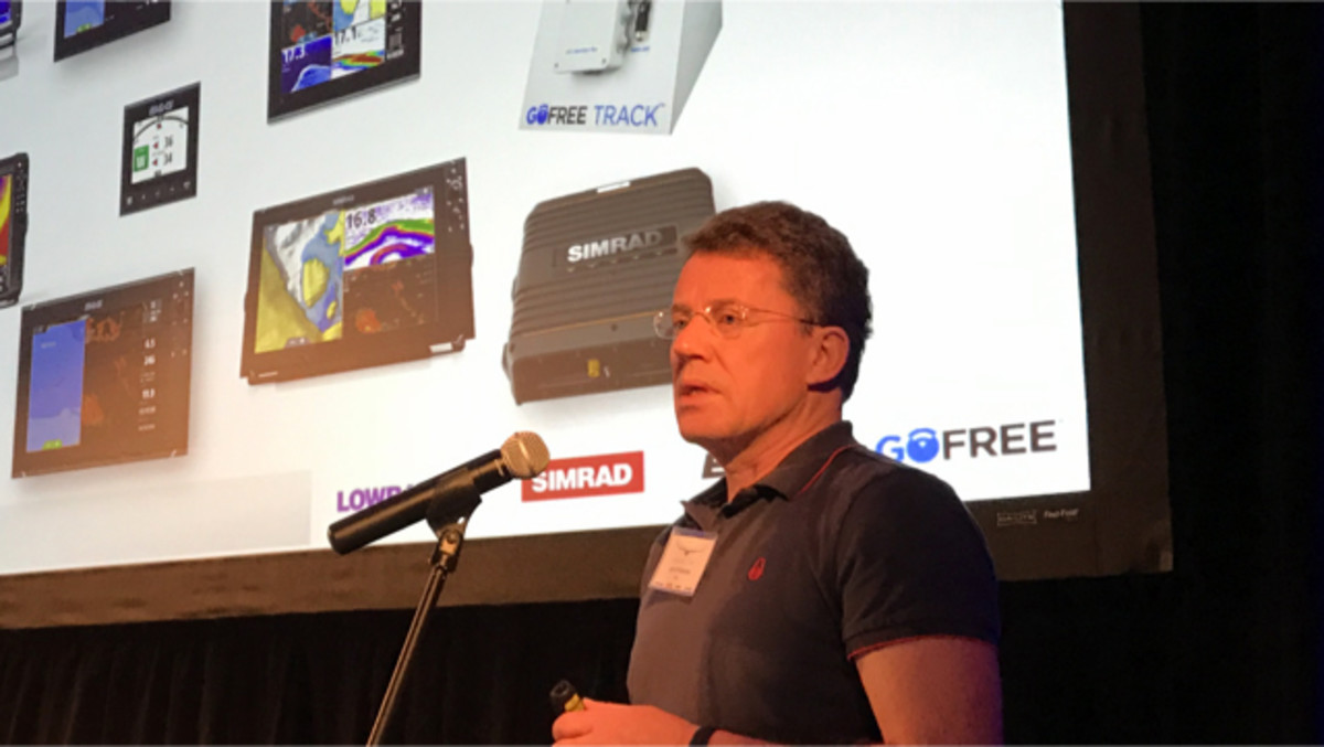"Navico CEO Leif Ottosson outlined the company's three major goals for 2017 at a media event in the Florida Keys — increase its business in the saltwater market through its Simrad and B&G brands, heighten the integration of its products with other systems on the boat and develop technology to ""connect"" product usage with owners and service providers."