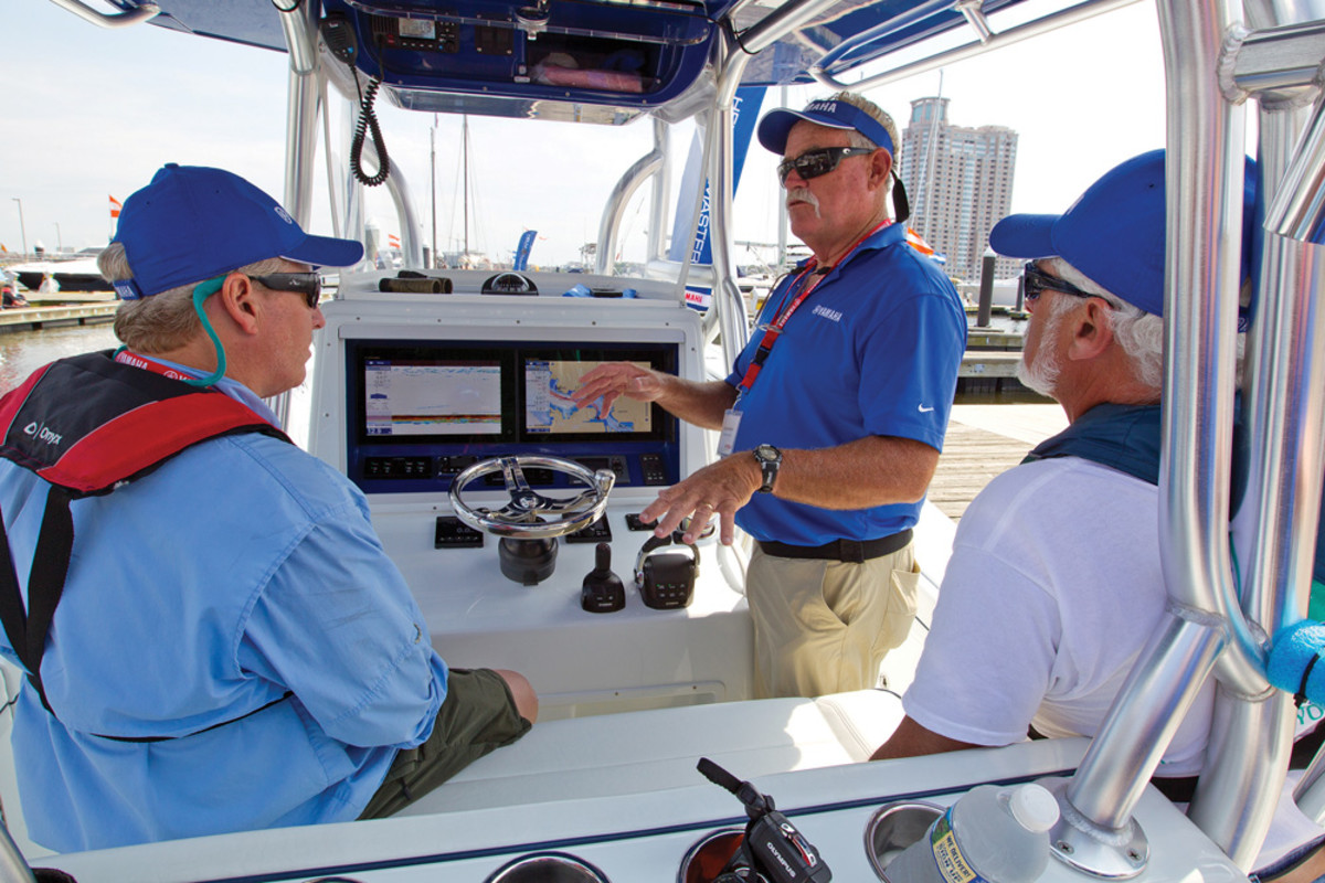 Yamaha videos use a fishing pro to tout the benefits of Helm Master.
