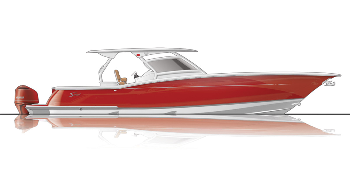 Scout's 420 LXF, in development for three years, will be introduced in February at the Miami boat show.