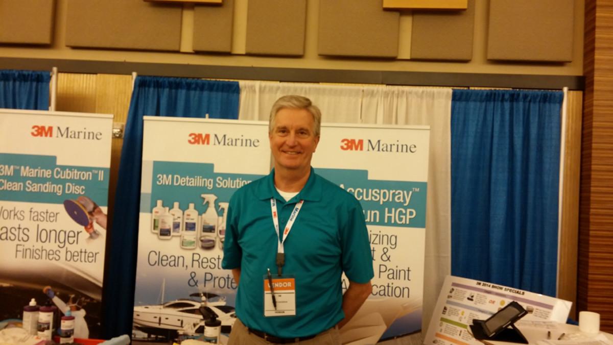 "David Davidson of 3M Marine Products said the Kellogg show ""is always the biggest show for us saleswise."""