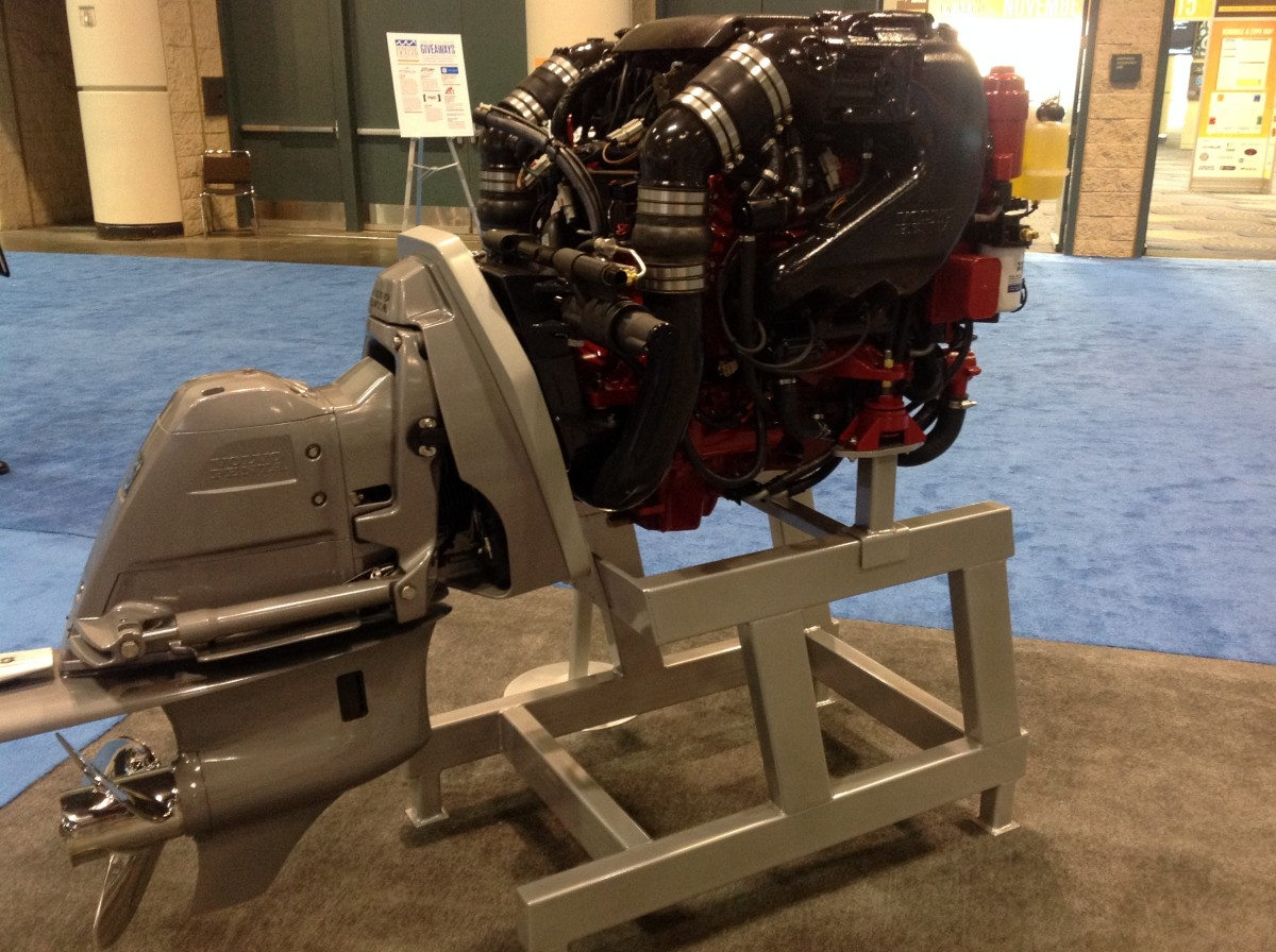 Volvo Penta introduced its Gen V 200- and 240-hp gasoline sterndrive engines at the dealer conference.
