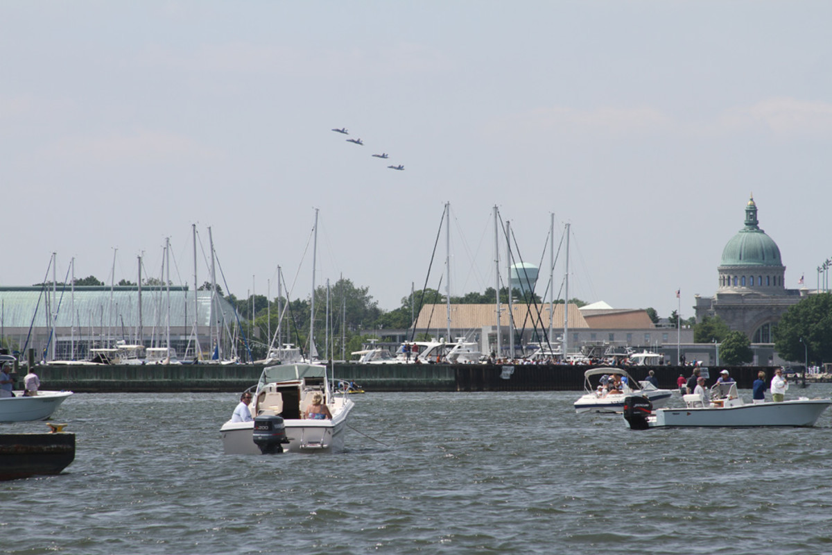The two-hour boat ride and the Blue Angels' airshow was a highlight of the Freedom Ride tour.