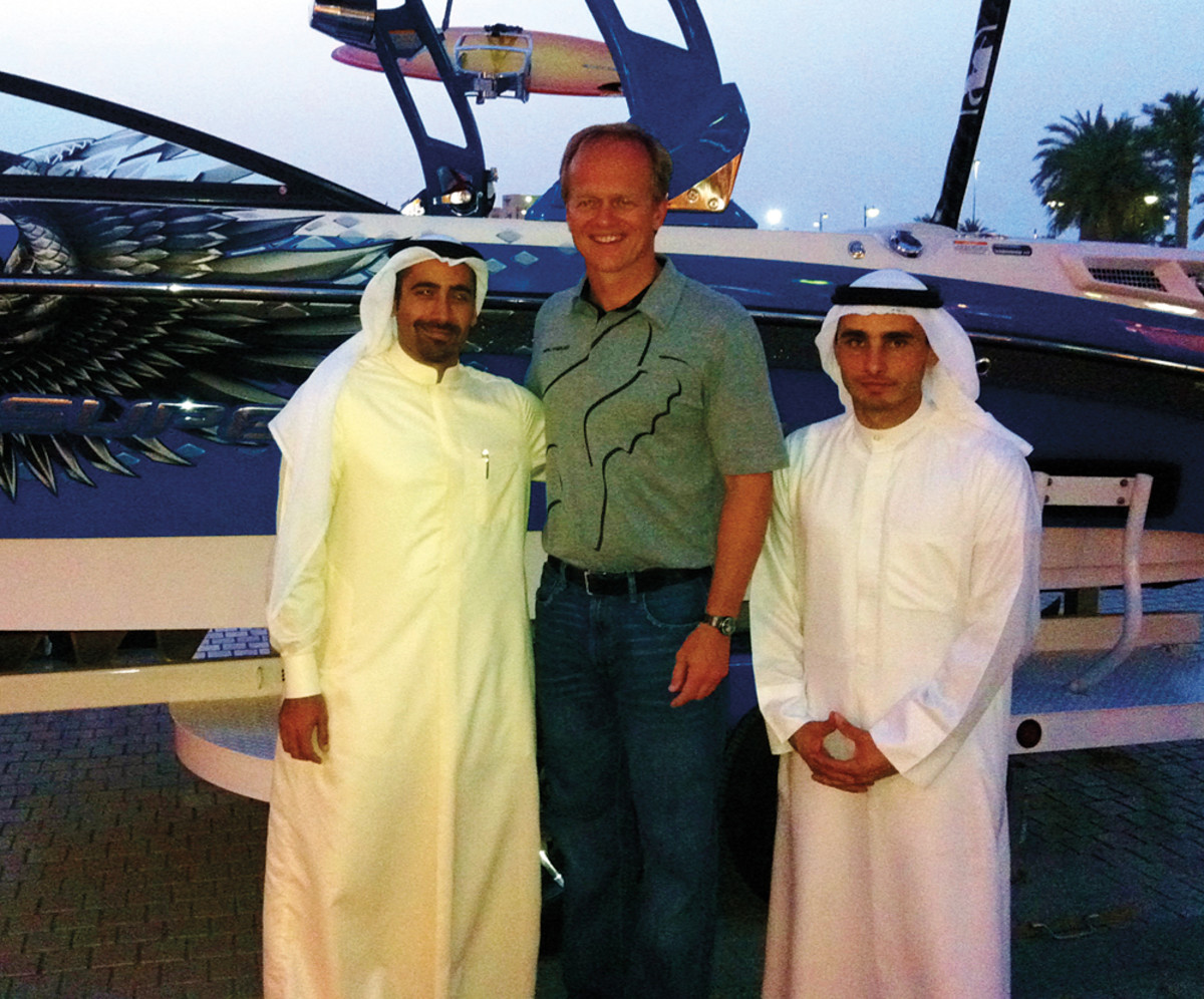 Yeargin in Kuwait, with his Bahrain (left) and Kuwait dealers.