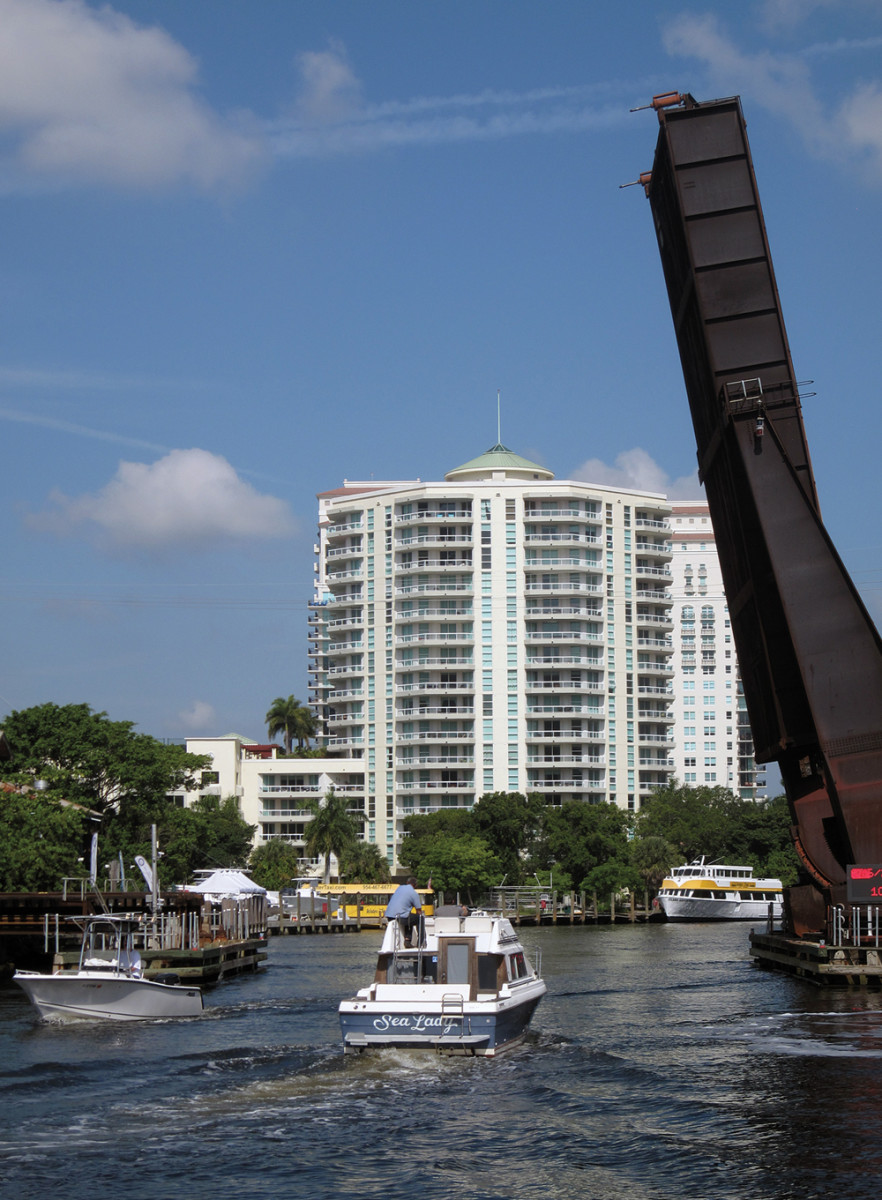 In a pilot program, a full-time tender is required at Florida East Coast Railway's drawbridge over Fort Lauderdale's New River.