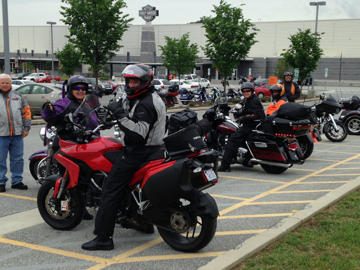 The Freedom Ride tour stopped in York, Pa., on Thursday to visit the Harley-Davidson plant.