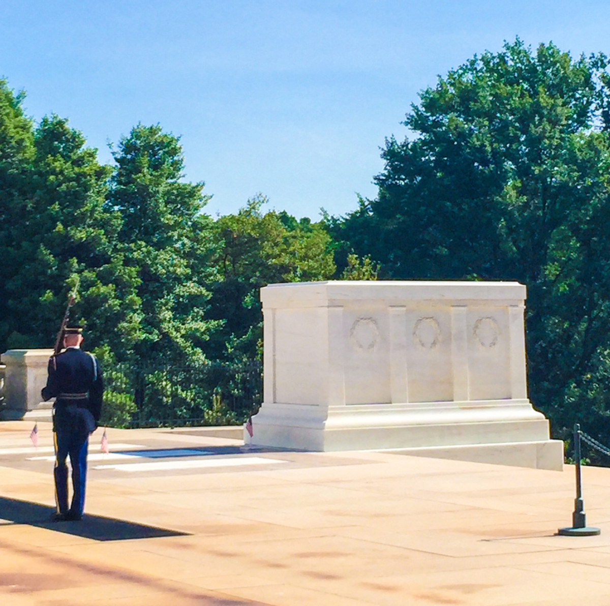 On Memorial Day tour riders visited the Tomb of the Unknown Soldier at Arlington National Cemetery.