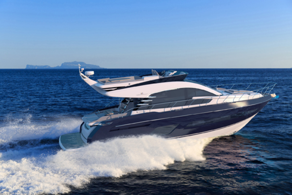 The Squadron 53 is based on the existing 53-foot hull, but has a new design from the deck up.