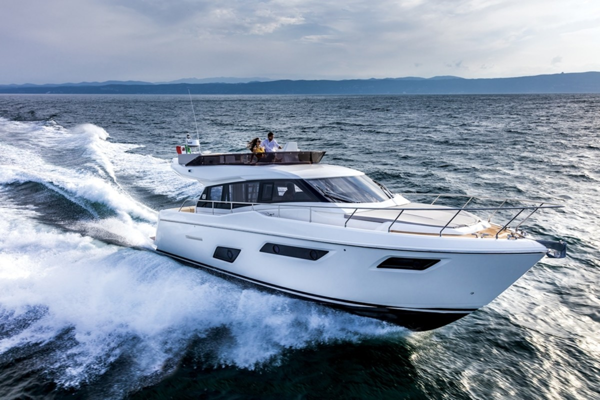 The Ferretti Yachts 450 will make its U.S. debut at the show.