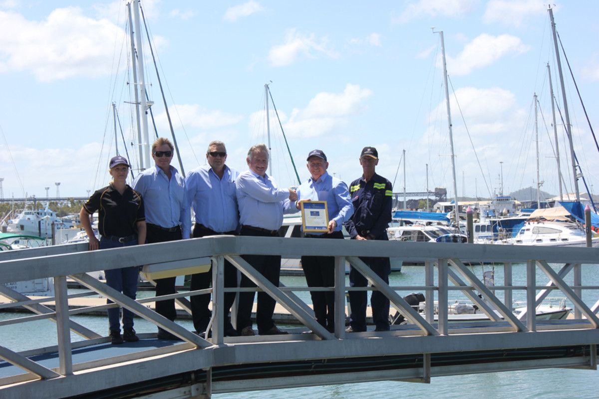 Gladstone Marina officials recently accepted its Golden Anchors accreditation.