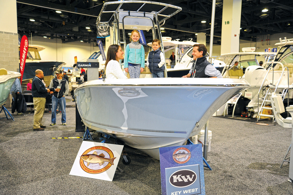 Getting young families hooked on the boating lifestyle was a primary mission of sales reps on the floor.