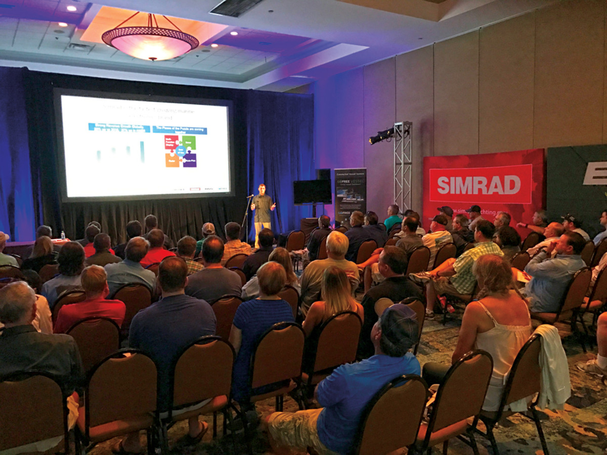 Executives told journalists their top priority for 2017 is to strengthen Navico's presence in the saltwater market through its Simrad and B&G brands.